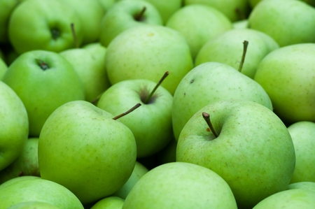 granny smith: Heap of fresh green Granny Smith apples. Background image