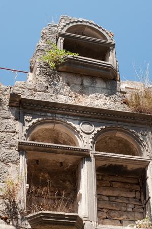 Fragment of architecture in Korcula, Croatia