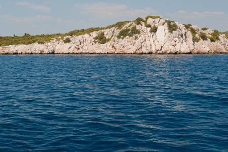 Coastline with cliffs near Kocula in Croatia