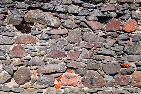 Detail view of a stone wall background Stock Photo