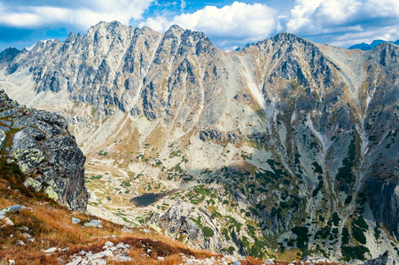 View of beautiful mountains from Solisko in High Tatras in Slovakia