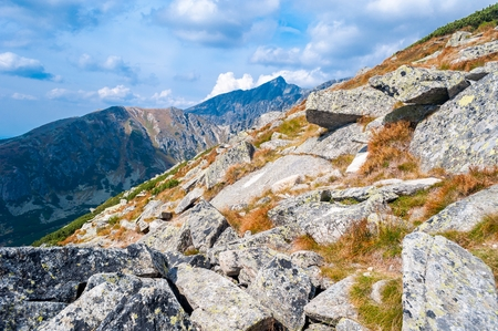 View of mountains from Solisko in High Tatras in Slovakia
