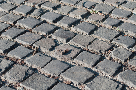 Background image of old cobblestone road
