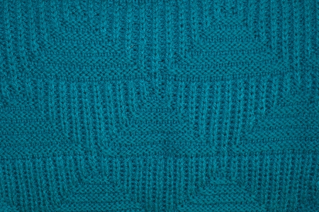 Background texture of knitted blue pullover Stock Photo