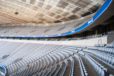 MUNICH, GERMANY - JANUARY 23, 2014: The view from inside of the Allianz Arena stadium in Munich, Germany. The Allianz Arena is home football stadium for FC Bayern Munich Editorial