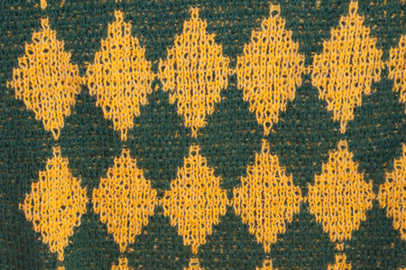 Background texture of checked woolen knitted pattern Stock Photo