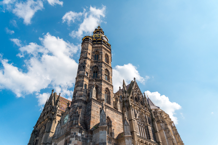 Tower of Saint Elizabeth Cathedral, Kosice, Slovakia. The Saint Elizabeth Cathedral is the easternmost Gothic cathedral in Europe and the largest church in Slovakia