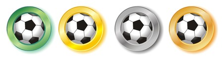 Football buttonsicons Stock Photo