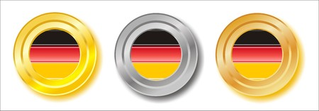 Germany golden, silver and bronze buttons