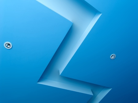 Interior with blue ceiling Stock Photo - 9087099