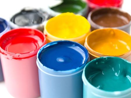 Set of gouache paints
