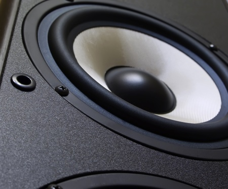Stereo speaker with big woofer Stock Photo - 9087123
