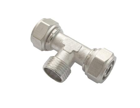 waterpipe: Conector waterpipe aislado en fondo blanco Foto de archivo