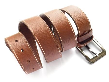 Mens fashion belt Stock Photo