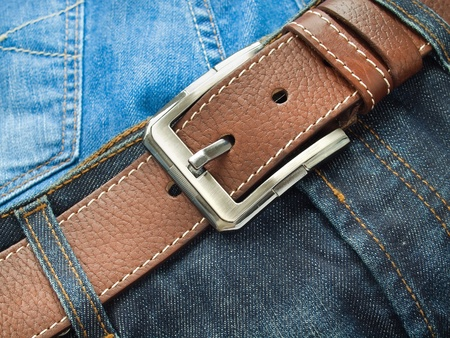Blue jeans with fashion belt Stock Photo - 9371958