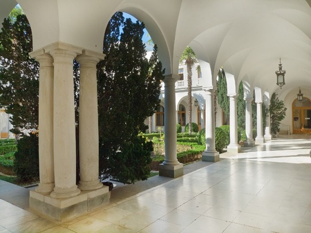 View of Italian patio in Livadian Palace (Tzar residence)