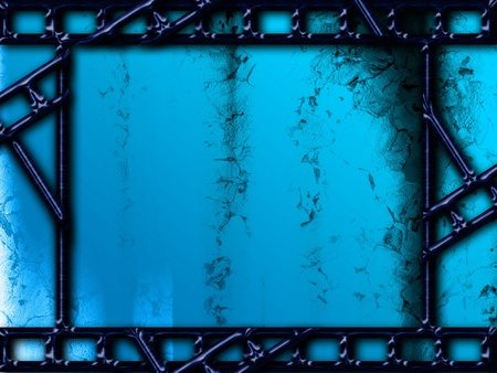 Blue background with photo film frames texturized
