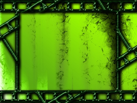 Green background with photo film frames texturized