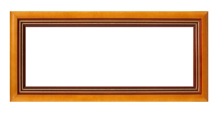 Empty picture frame isolated on white background