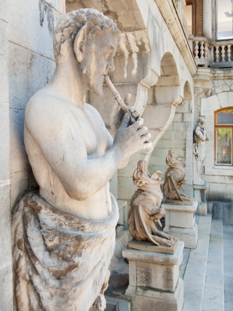 Sculptures in Massandra`s palace - satyres and chimeras