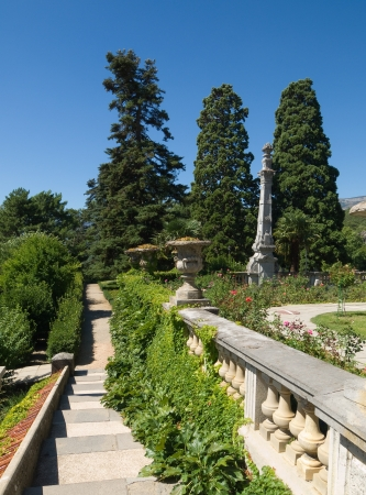 sightseeng: Sculptures in park of Massandra`s palace in Crimea