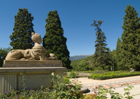 Sculpture in the park of Massandra palace in Yalta