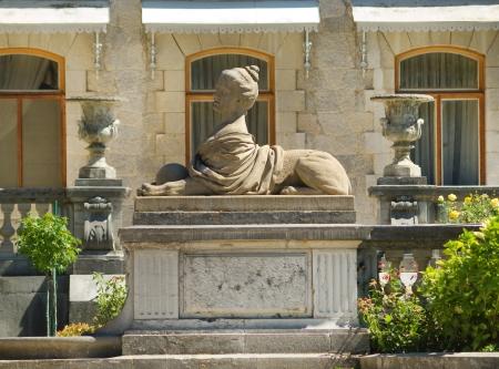 Sculpture in park of Massandra palace in Crimea