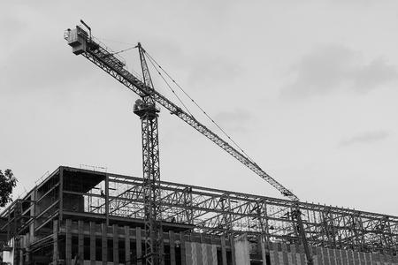 site: Crane at construction site