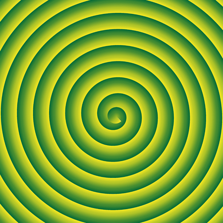 Green and yellow spiral vector background. Illustration
