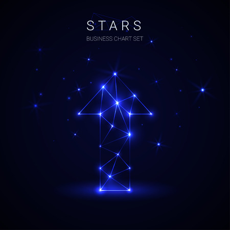 Arrow star business cover template. 向量圖像