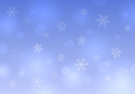 Christmas winter snowflakes on blue background vector. Illustration