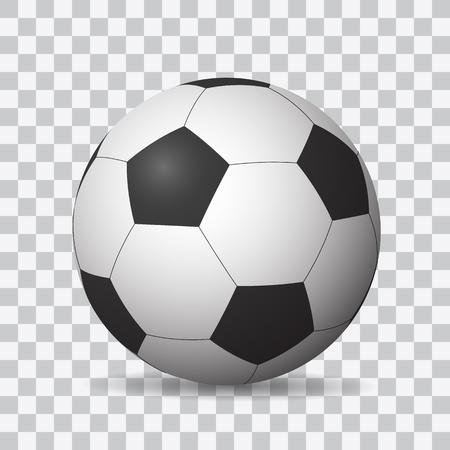 Beautiful realistic shaded vector football on transparent background. Иллюстрация