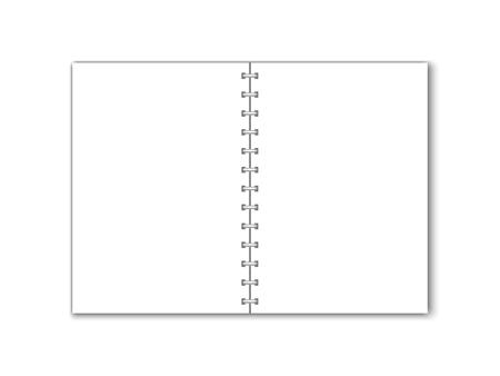 Detailed vector blank paper notebook with circular binding. Иллюстрация