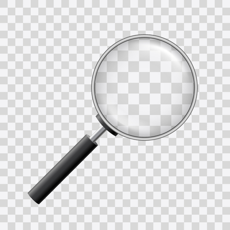 Schöner Vektor einer Lupe mit Lupe auf transparentem Hintergrund.