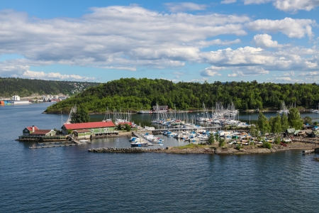 scandinavian peninsula: Harbor for yachts and boats in the Oslo Fjord