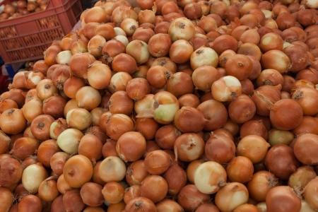 fethiye: Onions in the Turkish market in Fethiye
