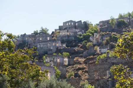kayakoy: Ghost town of Kayakoy, Turkey