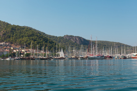 Yacht harbor, Fethiye, Turkey photo