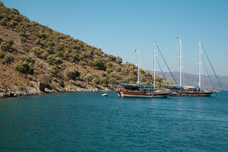 Yachts in the Mediterranean Sea, Turkey photo