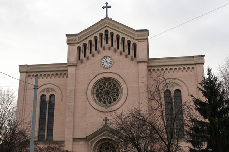evangelical: Gustaf-Adolf Evangelical Church, Vienna Stock Photo