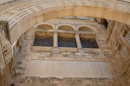 September 18, 2019, Nazareth, Israel. The Church of the Transfiguration on Mount Tabor. Architectural detail Editorial
