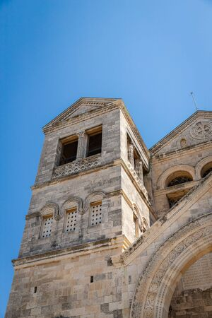 September 18 2019, Nazareth, Israel. The Church of the Transfiguration on Mount Tabor. Architectural detail