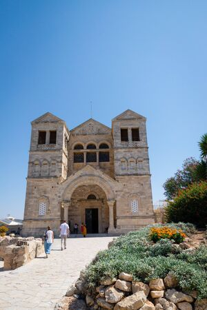 September 18 2019, Nazareth, Israel. The Church of the Transfiguration on Mount Tabor