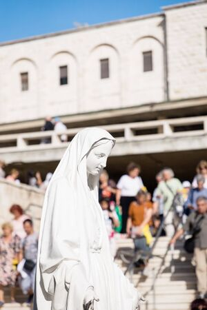 September 18 2019. Nazareth, Israel Statue of Virgin Mary Stock Photo - 136767199