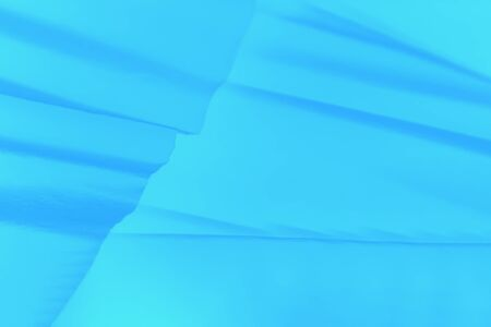 Soft blue abstract gradient background with paper waves Banco de Imagens