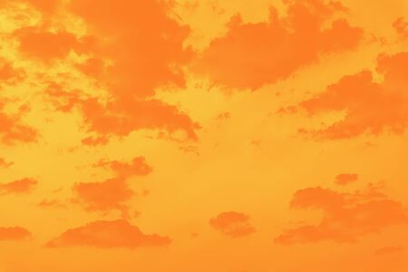 Beautiful sky background, shades of orange toned, warm sky 版權商用圖片