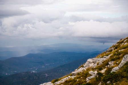 Beautiful view from the mountain Biokovo. Mountain landscape, Croatia