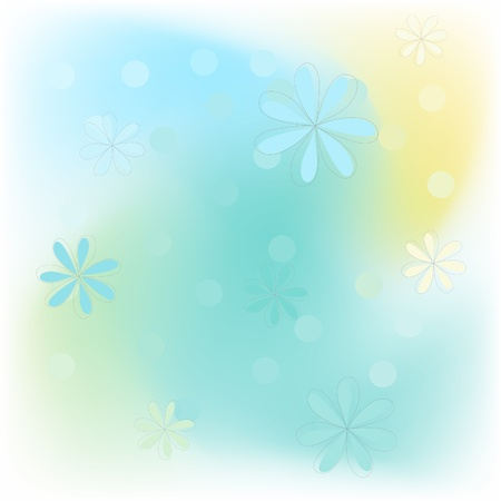 gentile: gentile vector background with simple fliwers and circles