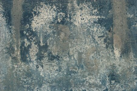 Abstract grunge background. Old cracked concrete with smudges. Gray, blue white colors. Zdjęcie Seryjne