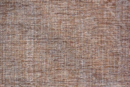 Farbe Stoff Textur. Weicher brauner Stoff mit Wollfäden. Platz kopieren